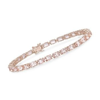 12.80 ct. t.w. Morganite Tennis Bracelet in 18kt Over Sterling. Finely crafted, feminine, and romantic... what else could you ask for? #valentinesday #love Click on the bracelet to see them for yourself!