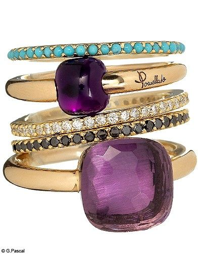 Pomellato rings ✤ The more that it shines, the more style it has. To be sparkling until the end of the fingers. ✦