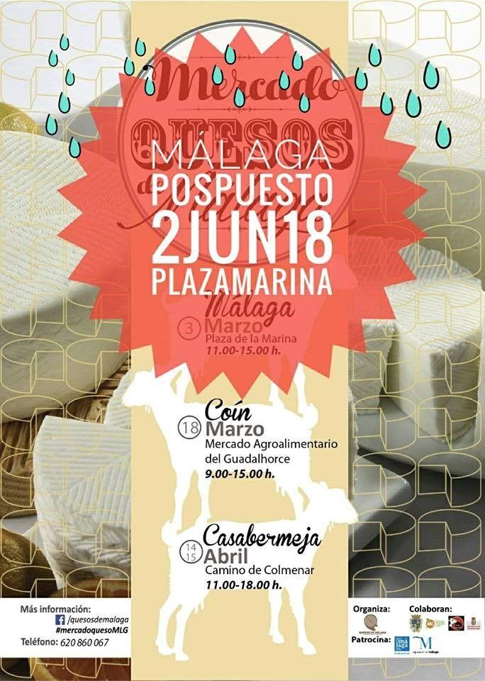 Periodico Digital de Málaga y Provincia   – Debido a la previsión de lluvias, se pospone el Mercado de Quesos de Málaga en la capital al 2 de junio