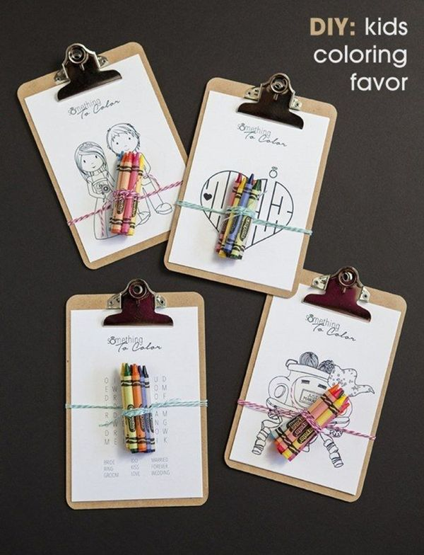 cute kids coloring wedding favors ideas