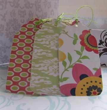 Printable Gift Tags 30  Co-ordinating set of 30 - Pink & Lime  available exclusively from http://www.zibbet.com/Printables