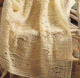 Free Crochet Pattern | Crochet Sea Shell Afghan