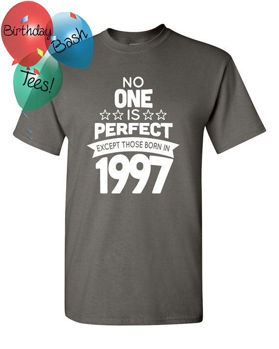 19 Year Old Birthday Shirt No One is Perfect by BirthdayBashTees