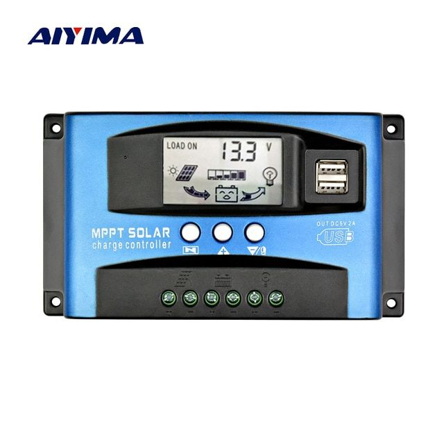 Aiyima 60a 30a Mppt Intelligent Solar Controller 12v 24v Auto Focus Solar Panel Battery Cells Regulator Charger For Home U Solar Panel Battery Solar Solar Cell