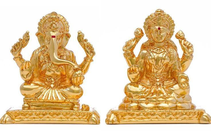 Diwali Pooja Ganesh Lakshmi Gold G-60+L-6creating test pins