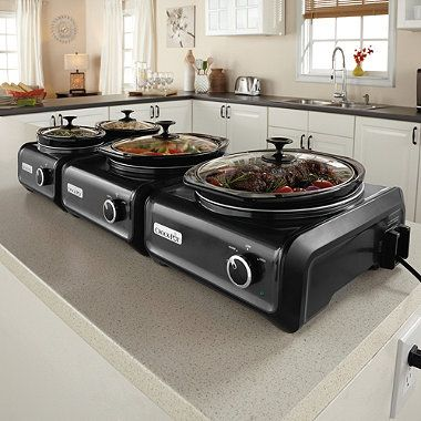 Buy Crock-Pot® Connectable Entertaining Hook-Up System in Charcoal from Bed Bath & Beyond