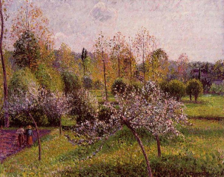 Flowering Apple Trees, Eragny. (1895). Камиль Писсарро