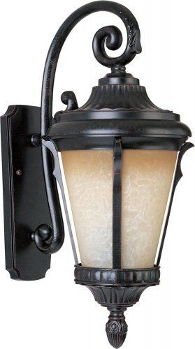 Maxim Lighting 3015LTES Odessa Singlelight Outdoor Sconce, by Maxim Lighting. $151.20. Light Bulb:(1)100w A19 Med F Incand, Finish:Espresso, Glass:Latte    .