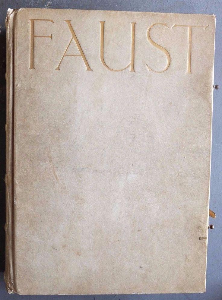 RARE Antique Faust  Eine Tragödie. Parts I & II 1912 - Fine Vellum Binding TEIL