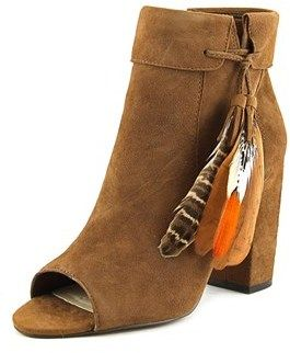 Jessica Simpson Kailey Women Peep-toe Suede Brown Bootie.