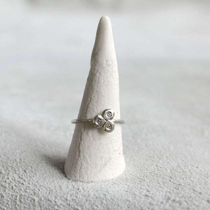 Diamond Set 'Trine' Ring in 9ct by TamaraGomez on Etsy