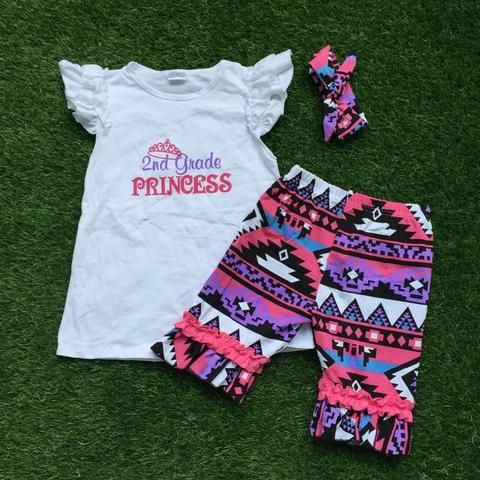 3 PCS BACK TO SCHOOL 2nd GRADE PRINCESS BOUTIQUE OUTFIT !!