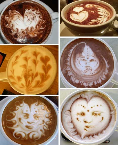 coffee-cup-art! JENNA and MICHELLE, I should expect to see some of these on my coffee :)