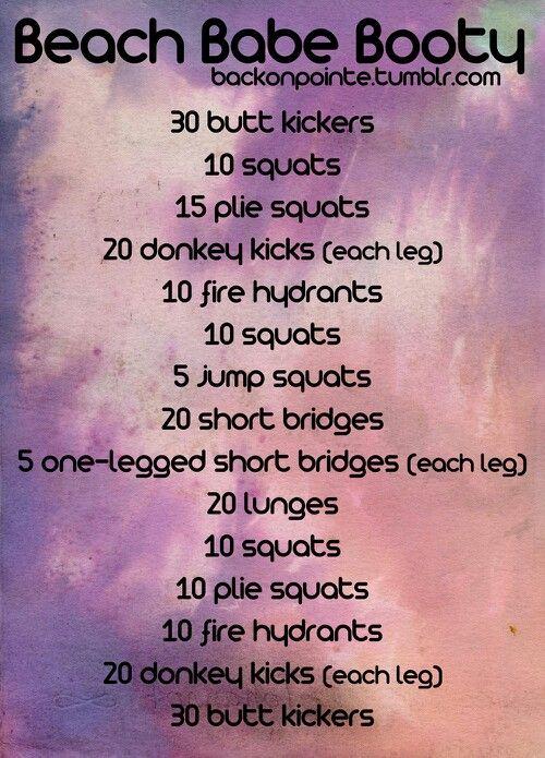 Backonpointe killer booty workout!