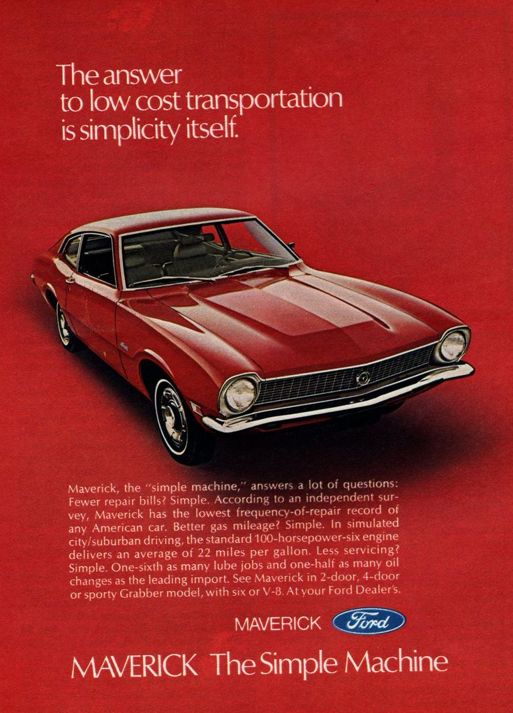 1971 Ford Maverick Advertisement Photo Picture