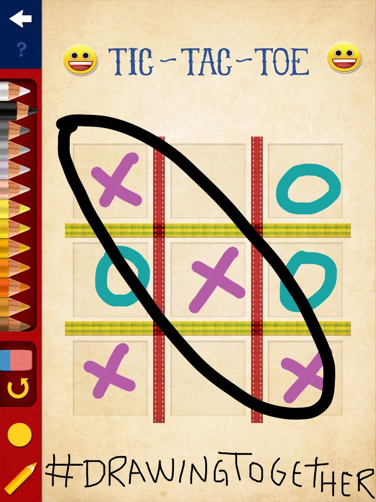 Did you know you can play Tic Tac Toe with friends, even if they are miles away from you? Drawing Together is awesome! :D
