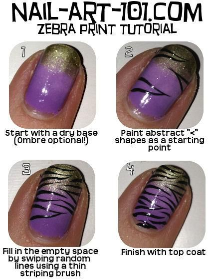 Beauty Tip: DIY Nails Art / DIY Zebra Nail Art - Fereckels