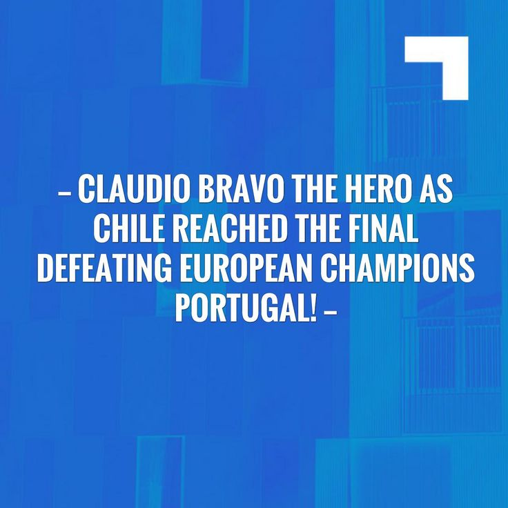 Check out my new post! Claudio Bravo The Hero As Chile Reached The Final Defeating European Champions Portugal! :) http://globaldailytimes.com/2017/06/30/claudio-bravo-hero-chile-reached-final-defeating-european-champions-portugal/