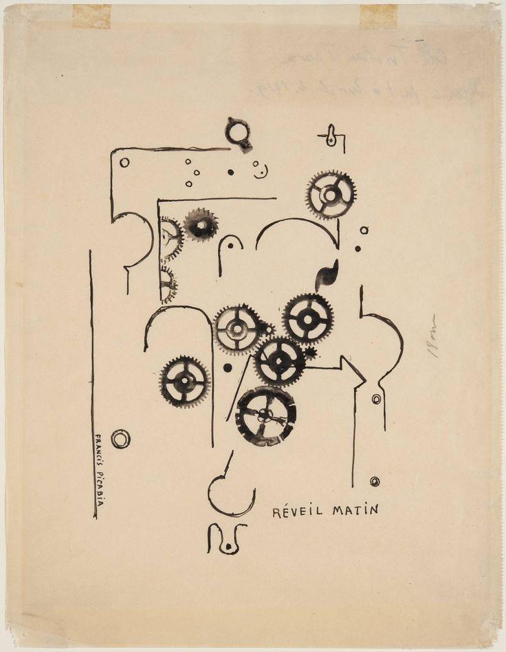 """Francis Picabia, """"Despertador"""" (1919). """"Potser per això els estranys engranatges que trobe sovint escampats en qualsevol racó, la maquinària que omple el garatge i s'engega quan menys m'ho espere."""""""