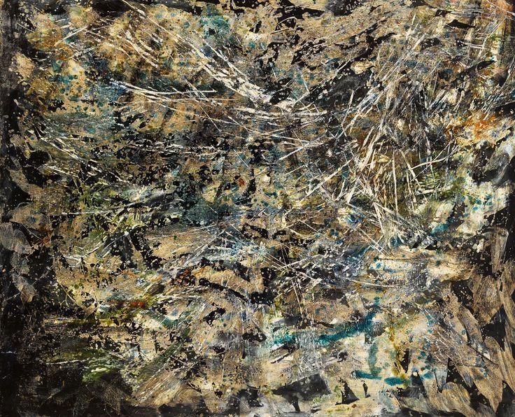 Francois Fiedler  Untitled 1956 oil on canvas 90 x 110 cm - Kalman Maklary Fine Arts