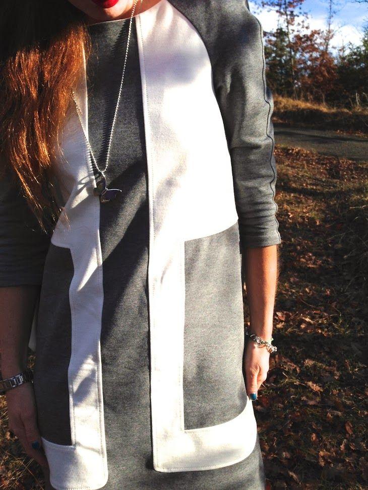 #dress #fashion #bonton #grey #girl #style #outfit  #fashionblog #fashionblogger #sixties #outfit #ootd #coat #collection 1One fashion dresses collection made in italy, tailleur cappotti sartoriali tagli geometrici, outfit abito manica lunga elegante ufficio ann...