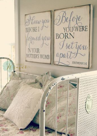 """""""I knew you before I formed you"""" Canvas Art Set {customizable}"""