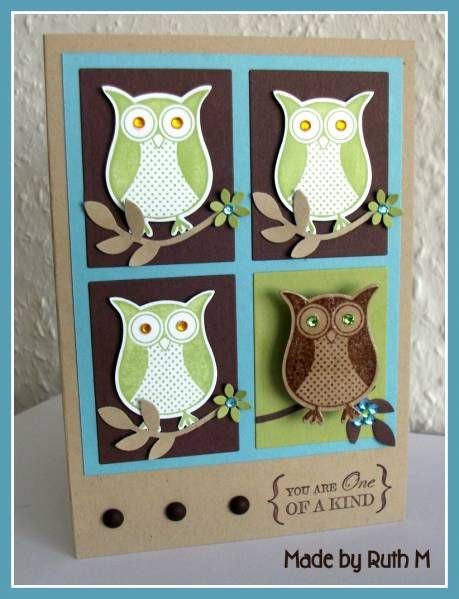 One of a Kind Owl Brooch Pin Card by FubsyRuth - Cards and Paper Crafts at Splitcoaststampers