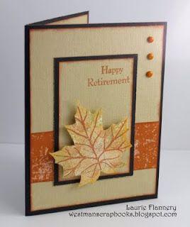 would make a cute fall card