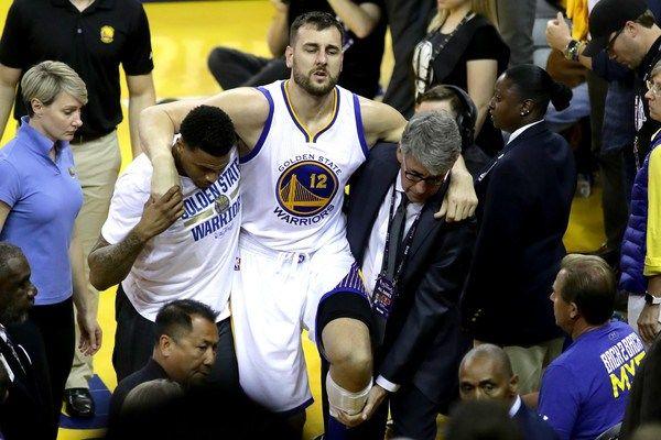 Golden State Warriors' Andrew Bogut out for remainder of NBA Finals