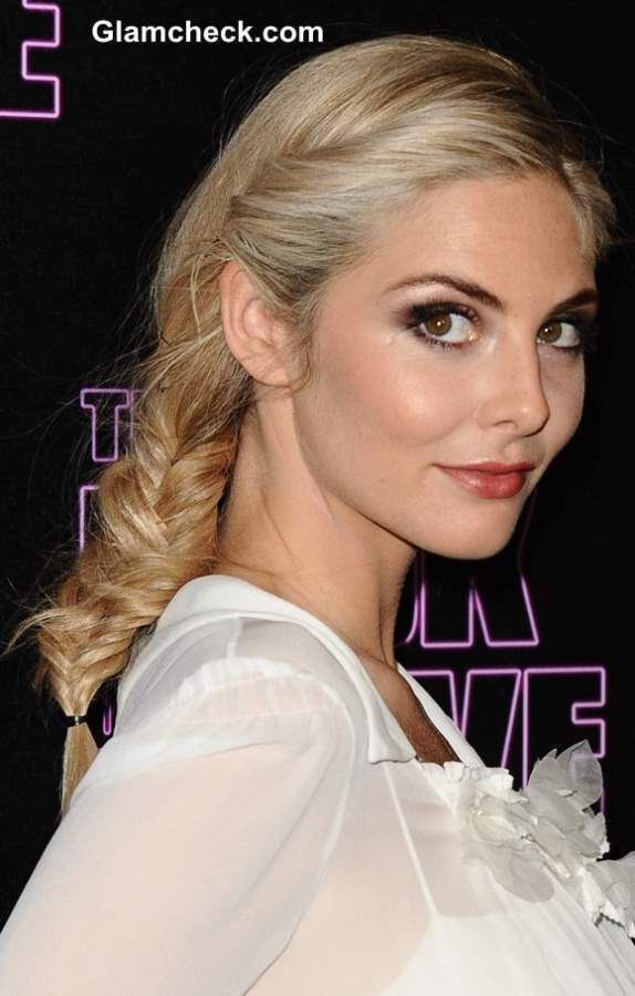 Tamsin Egerton Sports Messy Side Fishtail Braid