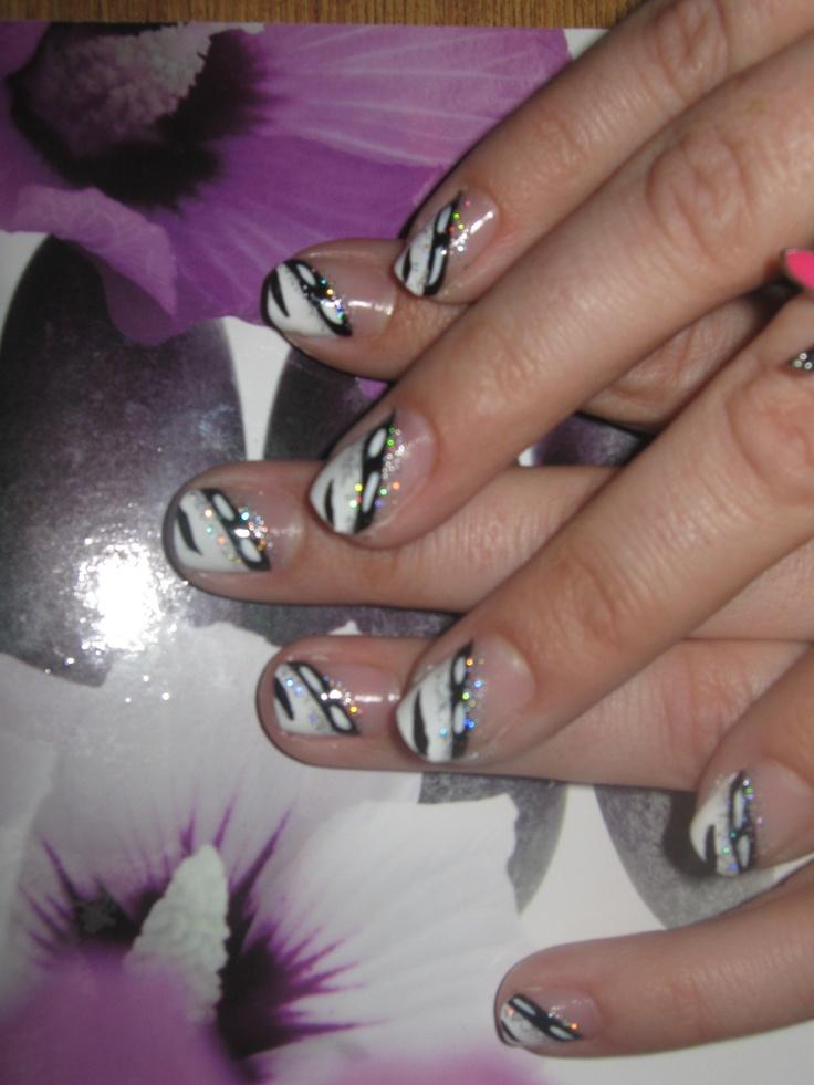deco ongles blanc et noir