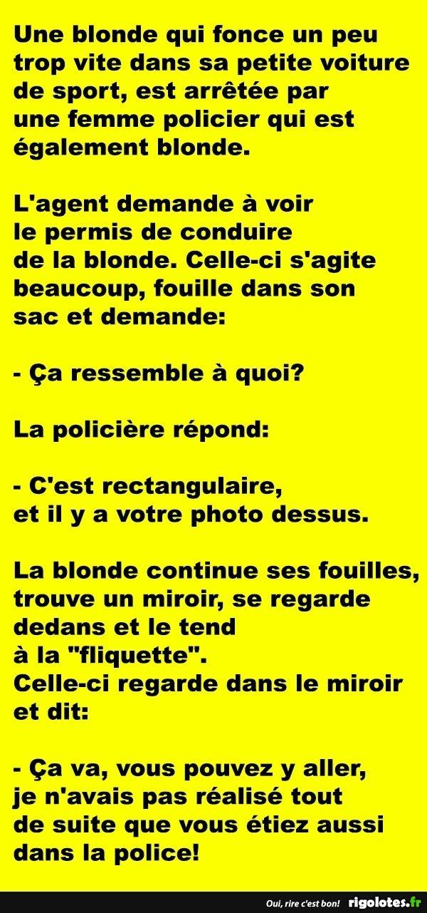 Une blonde qui fonce un peu trop vite dans sa petite voiture de sport... - RIGOLOTES.fr
