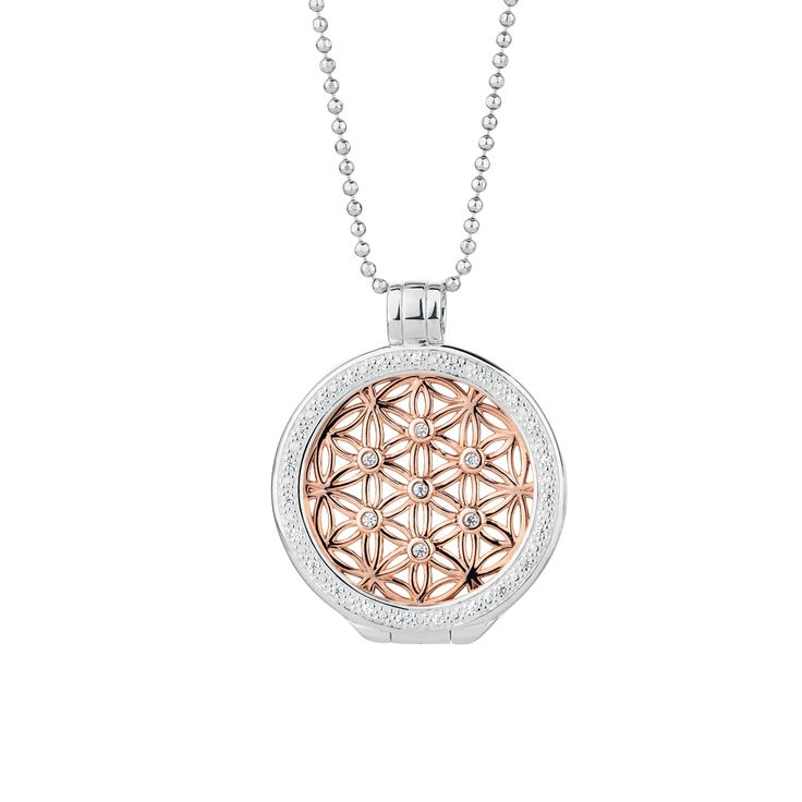 10ct gold, cubic zirconia & sterling silver interchangeable pendant. #elysiancollection #emmaandroe #jewelry #jewellery #pendants #interchangeable