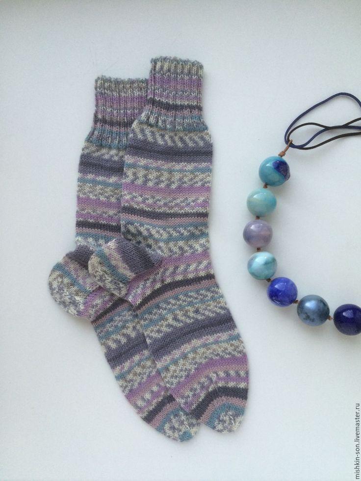 """Купить Носки """"Морозные узоры"""" - купить подарок, купить носки, вязаные носки"""