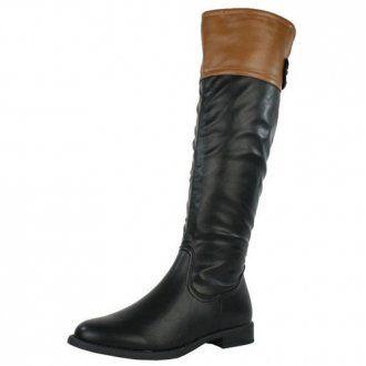 Ladies Black Brown Riding Boots