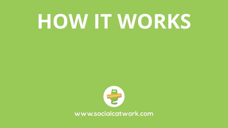 HOW SOCIALCATWORK WORKS More here: www.socialcatwork.com