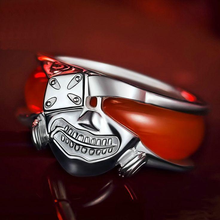 Moda 2015 tokyo ghoul 100% 925 anelli d'argento dei monili man anime anello rosso in  Moda 2015 tokyo ghoul 100% 925 anelli d'argento dei monili man anime anello rosso            100% brandda Anelli su AliExpress.com | Gruppo Alibaba