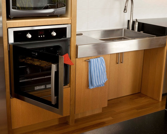 Universal Kitchen Design  Side Opening Oven And Custom Sink With Knee  Clearance