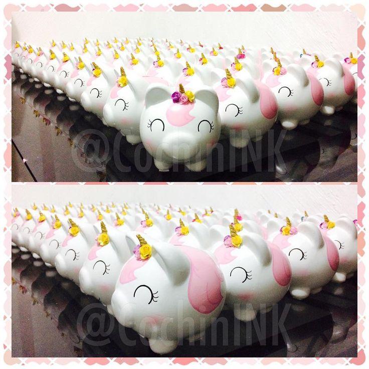 Preciosos unicornios!! #unicorn #unicornio #unicornios #unicorns #unicornlove #fiestaunicornio #unicornparty #alcancia #piggybank #cochinito #hechoamano #hechoconamor #hechoenmexico #artemexicano #artesaniamexicana