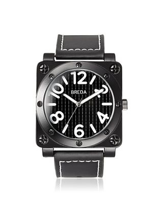 64% OFF Breda Men's 8159 Jaxon Black Square Alloy Watch