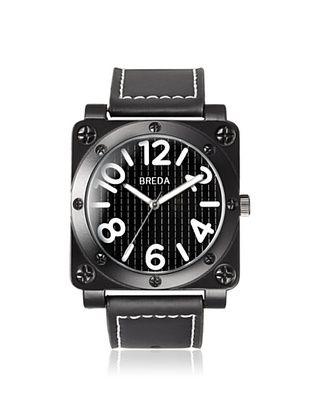 64% OFF Breda Men's 8159 Jaxon Black Square Alloy Watch