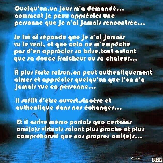 rencontre virtuelle poeme)
