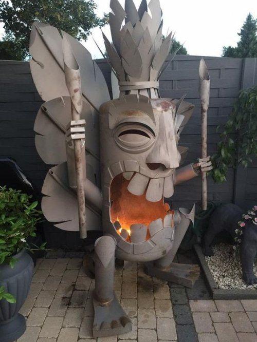 """cuencos creativas para el fuego, o """"chimenea al aire libre"""" (17 fotos)"""