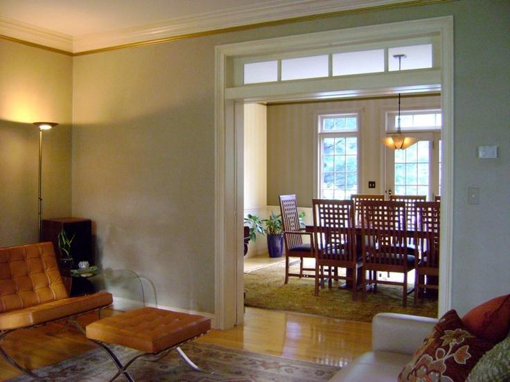 caramel barcelona chairs light brass floor lamps rich area rug new england