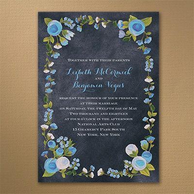 Best Chalkboard Wedding Invitations Images On