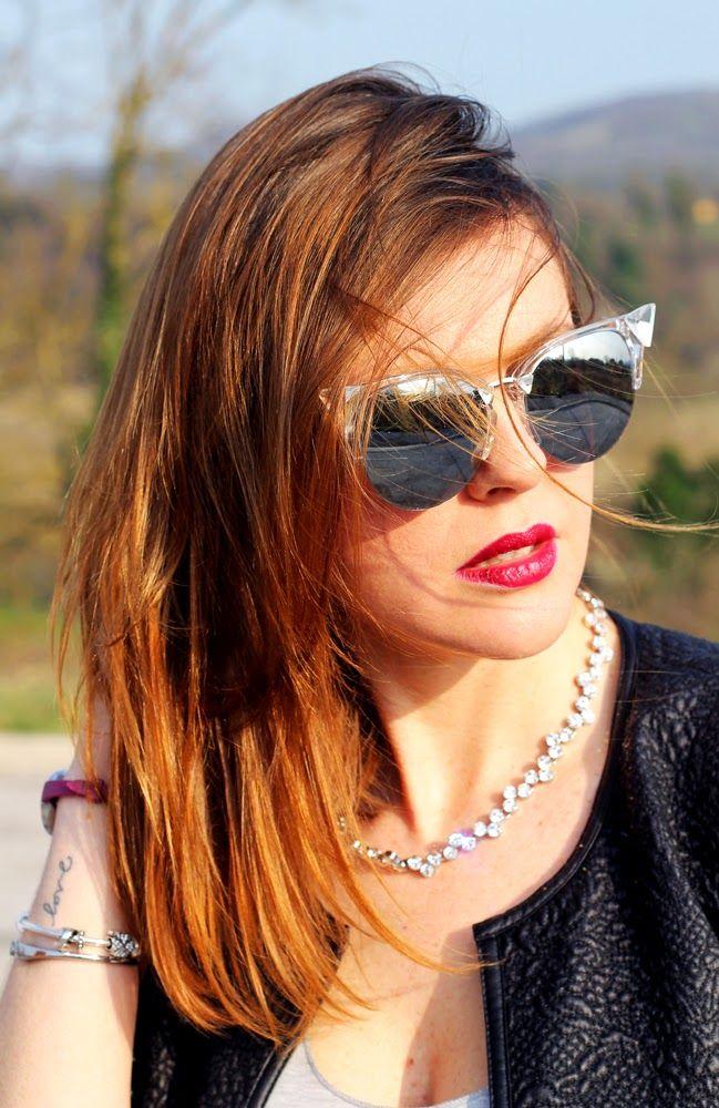All the pics here: http://amemipiacecosi.blogspot.it/2015/04/outfit-culotte-pants-e-t-shirt-veni-vici.html  #culottes #culotte #culottepants #leatherjacket #promod #ankleboots #zara #studdedboots #iridia #sunglasses #italianfashionblogge #fashionbloggeritaliana #greytop #blackpants #blackoutfit #ootd #outfit #fashionblogger #tshirt #loubutintshirt #loubutintop #loubutin #lucabarranecklace #lucabarra #collanastrass #rhinestones #choker