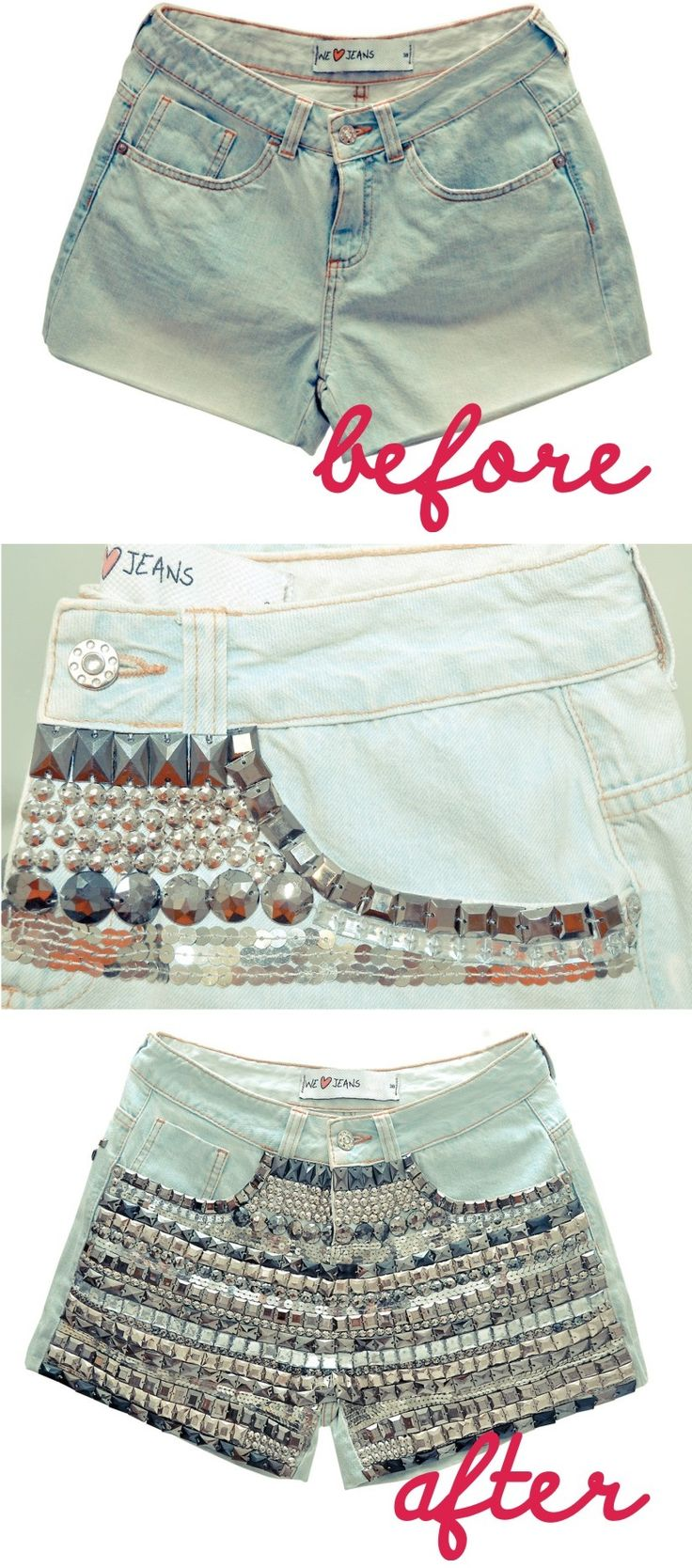 DIY: Customizando Short Jeans