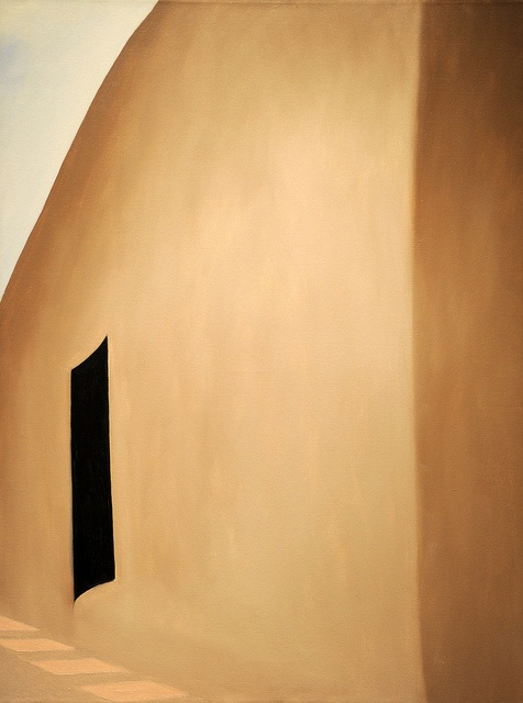 Georgia O'Keeffe - Patio With Black Door, 1955