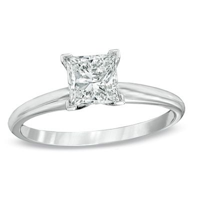 1 CT. Princess-Cut Diamond Solitaire Engagement Ring in 14K White Gold