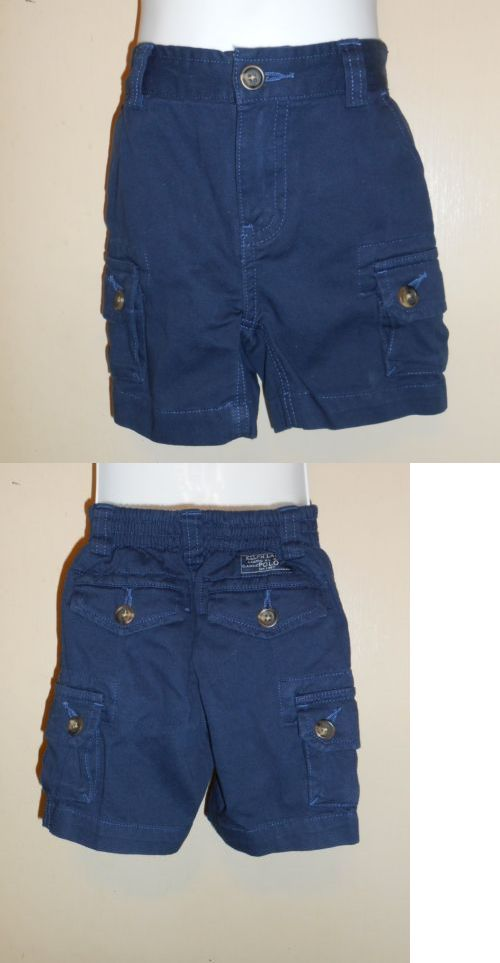 Bottoms 57793: Polo Ralph Lauren Infant Boys Cargo Shorts Navy 12M Nwt -> BUY IT NOW ONLY: $35.99 on eBay!